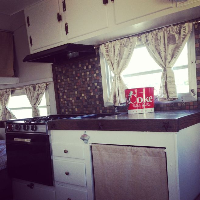 Vintage 1966 Oasis travel trailer. Red white and gray ...