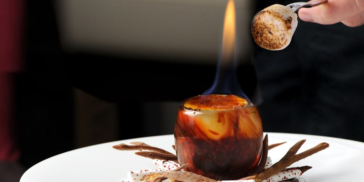 This extraordinary recipe from Simon Hulstone really has to be seen to be believed. This flaming dessert is perfect for bonfire night