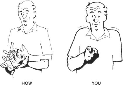 how to say your pretty in sign language