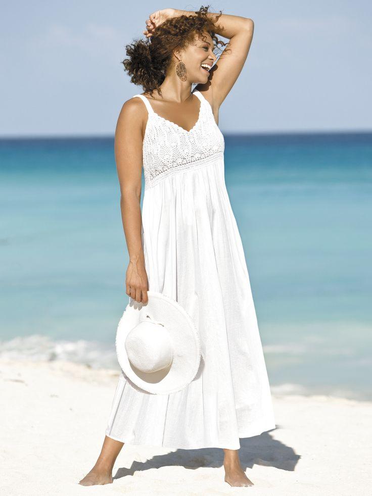 Women's #Plus Size Crochet Trim #Dress