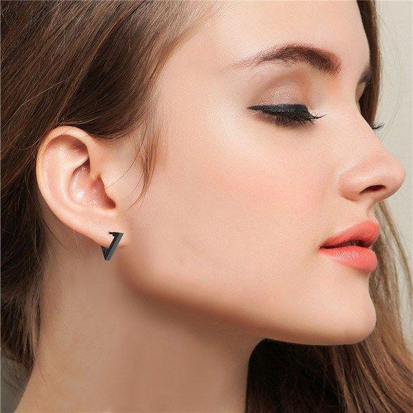 59918fa8b52d3 Triangle Stainless Steel Hoop Men Earrings in 2019 | Cool Earrings ...