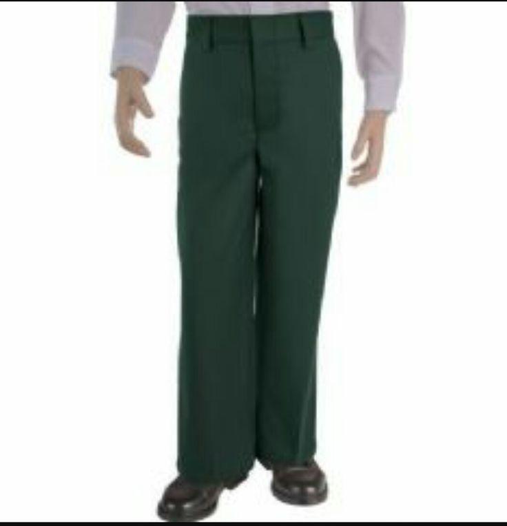 Green school uniform pants