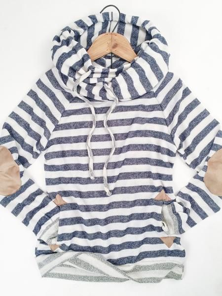 I love Cowl Neck Shirts for winter. This one is super cute. I like that it is simple but has a ton of character.
