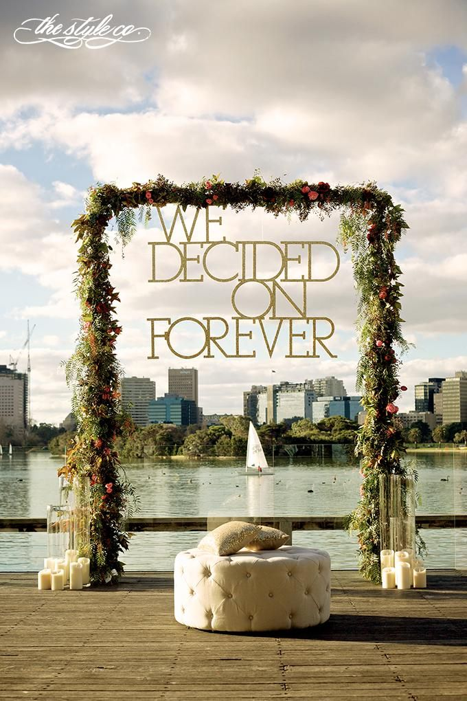 """We decided on forever"" - gorgeous wedding styling by The Style Co"