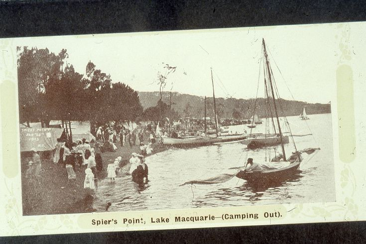 https://flic.kr/p/djNMxq | C918-0448 Spier's Point [Speer's Point], Lake Macquarie - (Camping Out), c.1908 | This image was scanned from a 35mm slide taken by the late Dr John Turner (1933 - 1998), local historian and lecturer. His collection is rich in Australian history and local studies. This image can be used for study and personal research purposes. If you wish to reproduce this image for any other purpose you must obtain permission by contacting the University of Newcastle's Cultural…