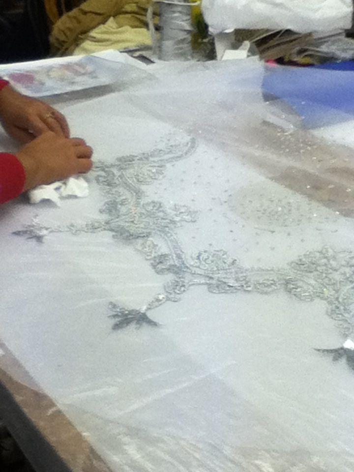 Moscow Ballet tutu in process in St Petersburg, Russia, all hand sewn