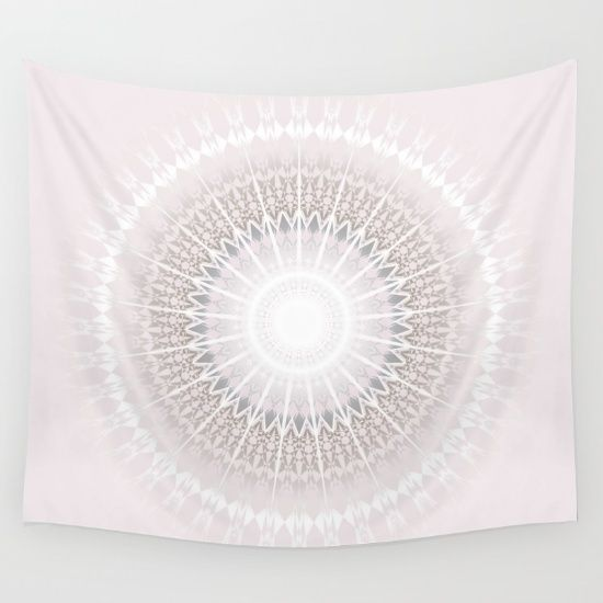 This Mandala fits into #bohochic living culture. It is a soft #taupe #pastel #grey #mandala which helps calm the mind and have a good night sleep. For the elegant dorm- or livingroom. #taupe #blush #white #pale #mandala #medallion #elegant #dormtrends #dormroom #livingroom #baydur mandala wall tapestry bedroom
