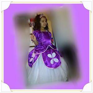 Didem'in Masalı Prenses Sophia kostümü, doğum günü elbiseleri, doğum günü kıyafetleri, Prenses Sophia kostümü, Prenses Sofia kostümü