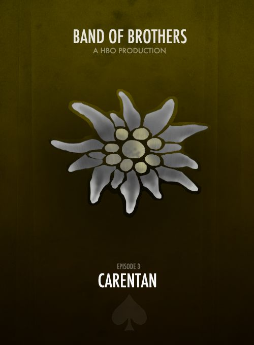 BAND OF BROTHERS MINIMALIST POSTERS † Episode 3- Carentan.