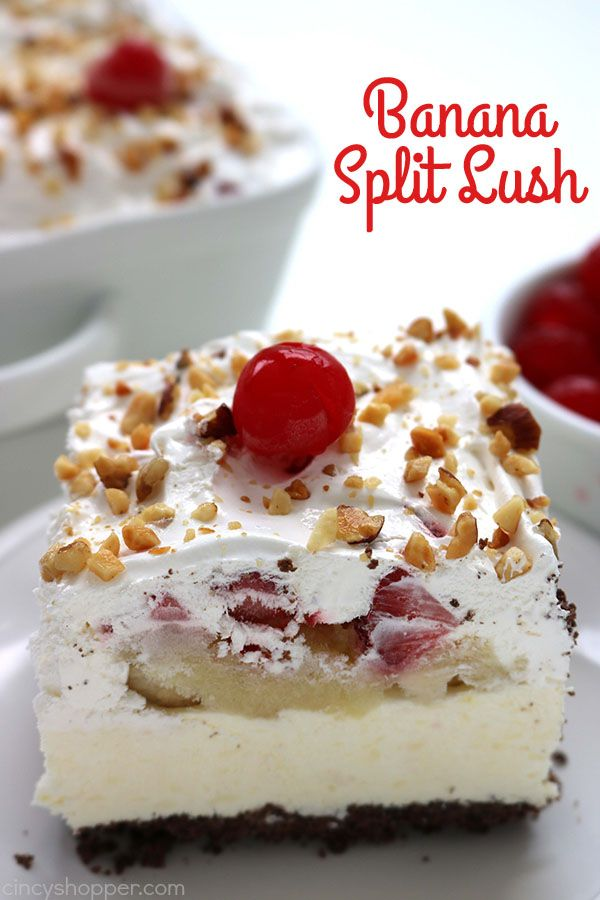 This Banana Split Lush Dessert has all the flavors of a delicious banana split and is no bake. Perfect for serving a crowd at your summer picnics and bbq's. Banana Split Lush I am a HUGE fan of banana splits. This super simple dessert combines banana, pineapple, strawberry, and chocolate. So totally yummy. I started...Read More