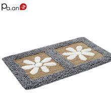 100% algodão capacho chão pétala anti-slip suave chenille tapetes de absorção de água tapete banheiro corredor carpet 45x70 centímetros home textile(China (Mainland))