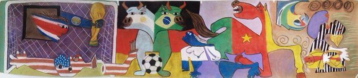 Guernica Mundial-A new version of Guernica-Picasso by Leira Guridi, Ana Genao, Yamm Red, Nicole Vittini, Mariela Martinez, katherine Zorrilla, Alezander De Leon, Leandro Segura, Luis Suverbi y Adrian Polanco,