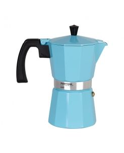 6 Cup Percolator Coffee Maker Vintage Blue. It comes in a gift box. It would make an ideal present for any lover of good coffee.