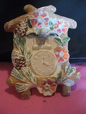 Vintage Wall Pocket Coo Coo Clock white Cuckoo Clock Ceramic  | eBay