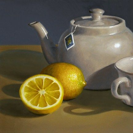 """Lemon with Teapot"" - Original Fine Art for Sale - © Nance Danforth"