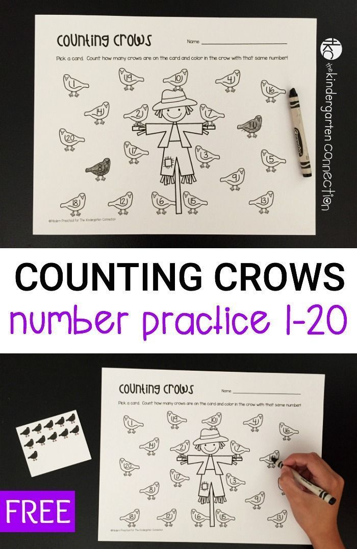 Counting Crows Number Practice