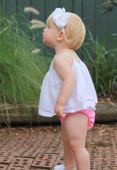 Our gorgeous girl in her pink Baby Bare nappy - www.babybare.com.au