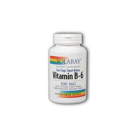 Solaray Vitamin B-6 100 mg - 120 Vegetarian Capsules