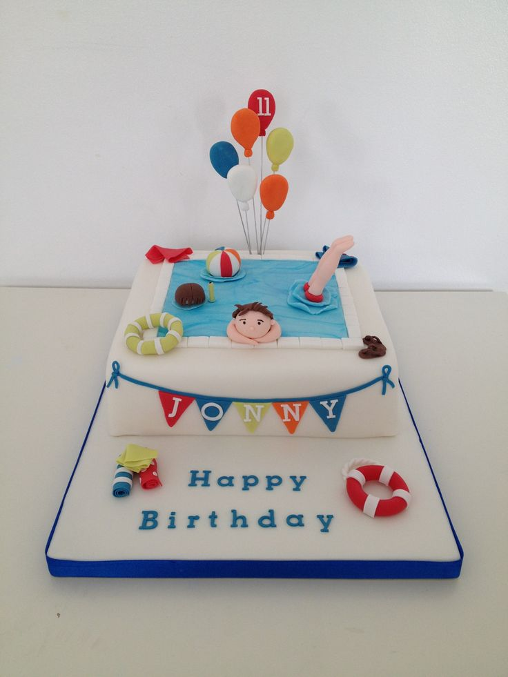 Swimming Pool Cake Ideas diving board swimming pool cake Swimming Pool Cake
