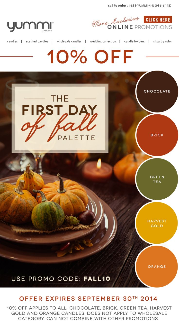 10% OFF The First Day Of Fall Palette! Use Promo Code FALL10 At Checkout