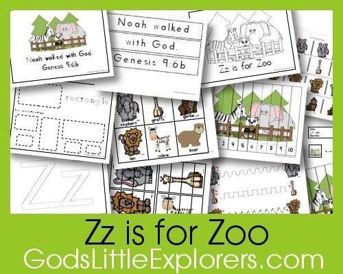 Free Z is for Zoo Preschool Printable Pack - Money Saving Mom®