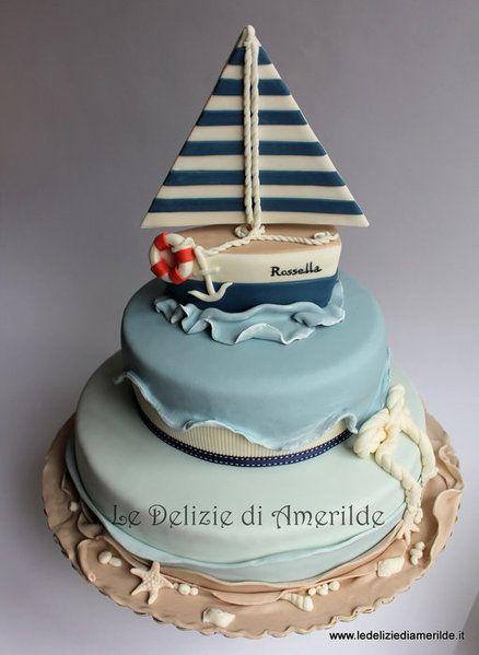 Fondant Sailboat Cake Topper