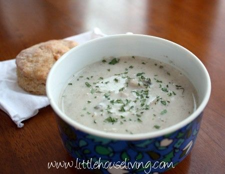 How to make from scratch homemade cream of mushroom soup. Avoid the cans and make your own version of this delightful soup!