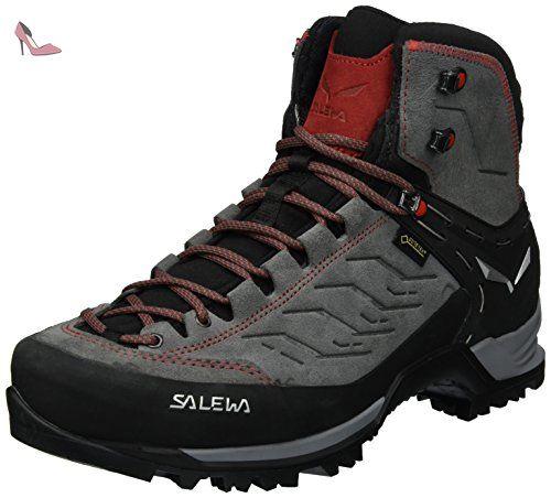 Salewa Ms Wildfire S Gore-tex, Chaussures d'escalade Homme, Multicolore (Black/Citro), 46.5 EU