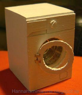 diy balsa wood miniature washing machine for dollhouse. Black Bedroom Furniture Sets. Home Design Ideas