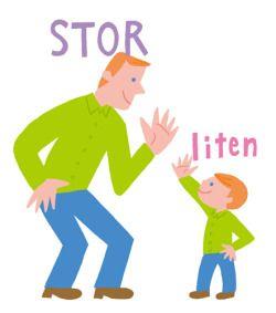 Learning Swedish 1 Stor ↔︎ Liten (Adjektiv)
