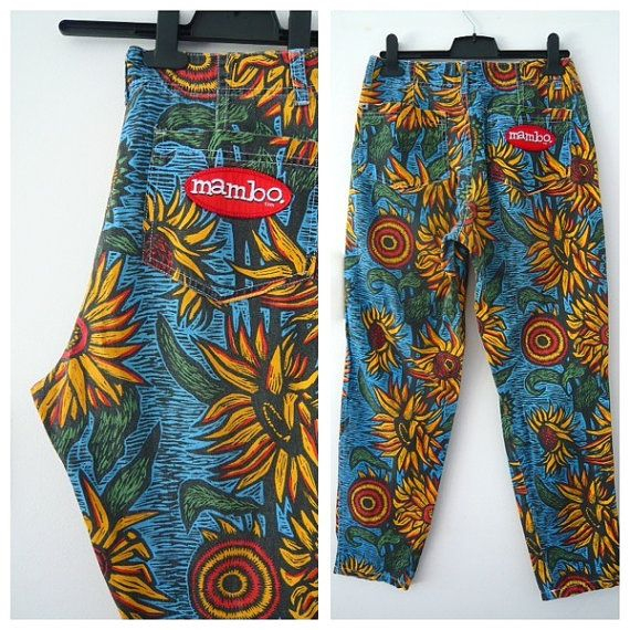 Vintage SUNFLOWER hi waist Jeans Psychedelic Mambo Australia Small Medium
