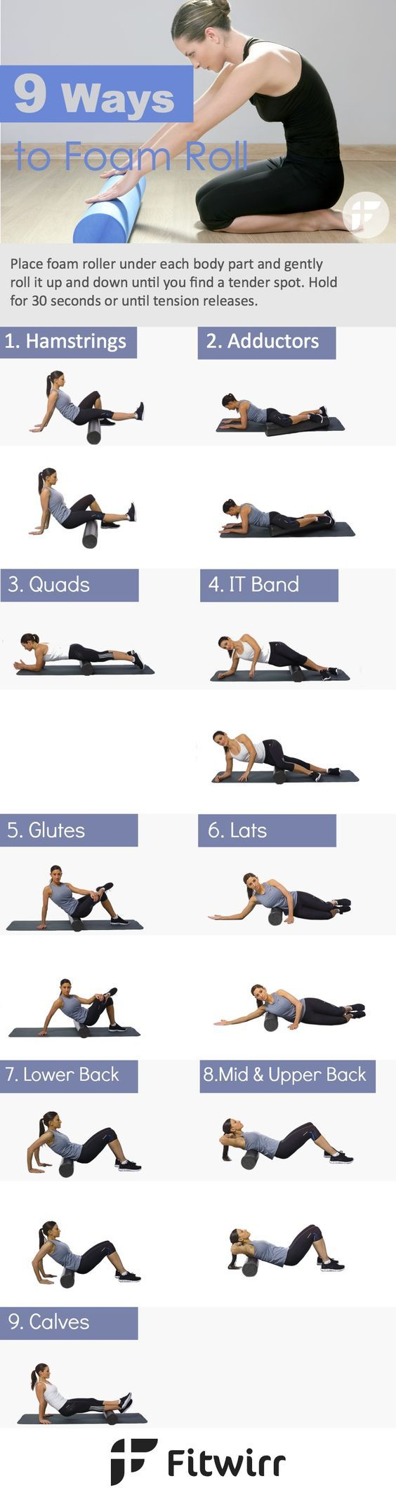 9 Best Foam Roller Exercises for Muscle Aches-While frequent visits to deep…