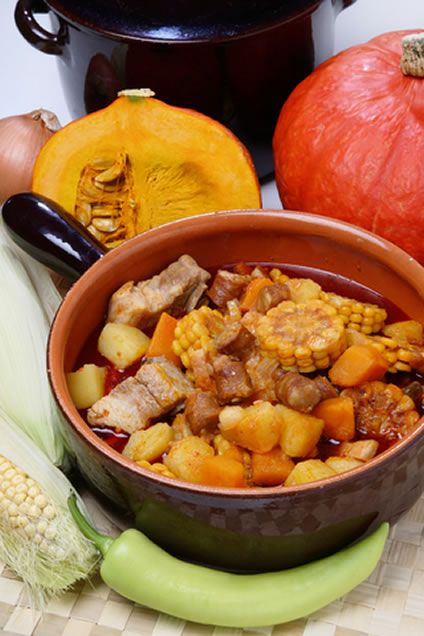 An unusual stew, this Argentine Carbonada is rich in color, texture, and of course taste. Featuring meat, veggies and even fruit, this is a ...