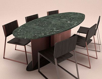"Check out new work on my @Behance portfolio: ""oval stone dinner table"" http://be.net/gallery/50284377/oval-stone-dinner-table"