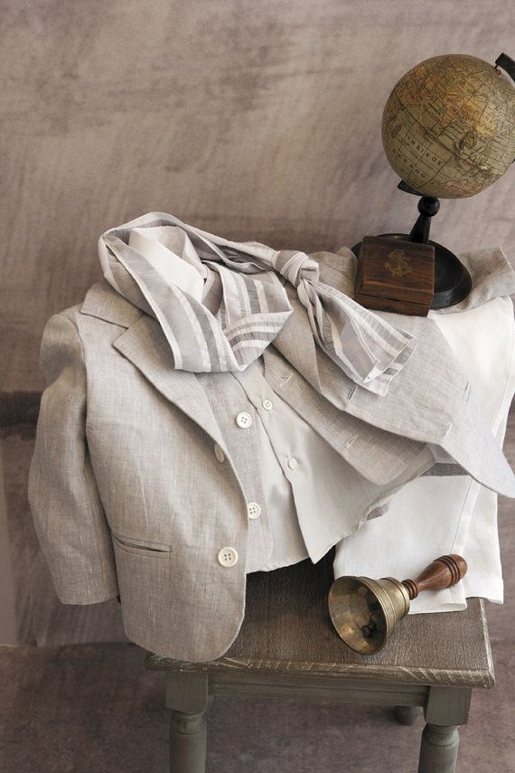 Baptism Suit Linen Suit Sty.No 4656-4 by StyledByAlexandros