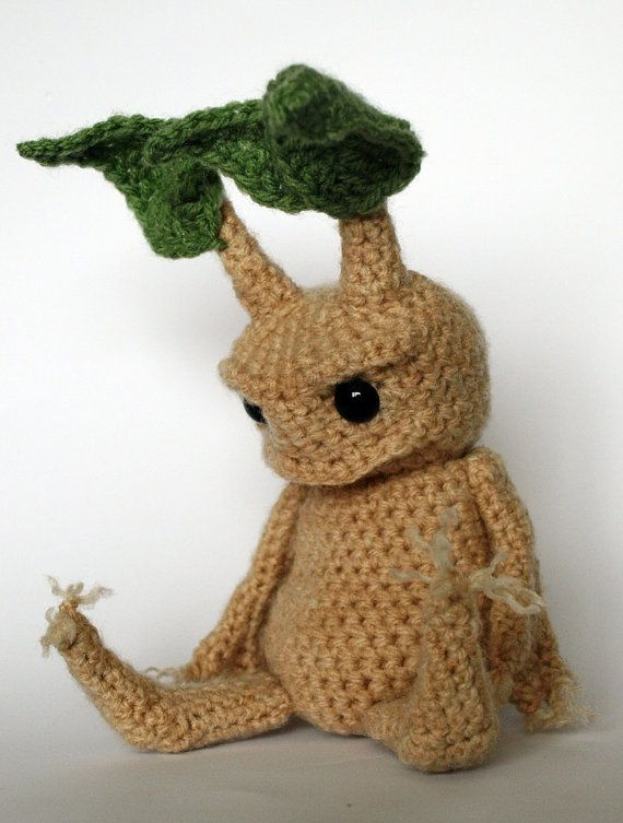 """Mandrake"" amigurumi crochet pattern by MrFox Etsy shop."