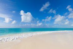 Belle plage de Cayo Largo del Sur, Cuba stock photo