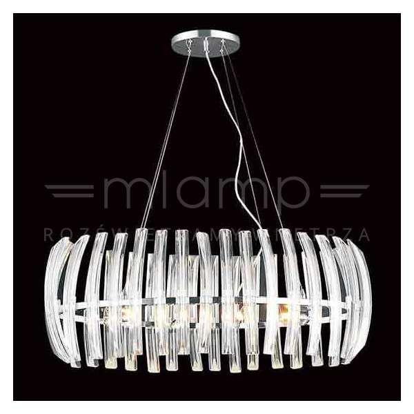 Kryształowa LAMPA wisząca CORTO ovale Orlicki Design owalna OPRAWA zwis glamour crystal przezroczysty
