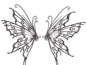 Butterfly wings tattoo idea #butterfly #tattoo
