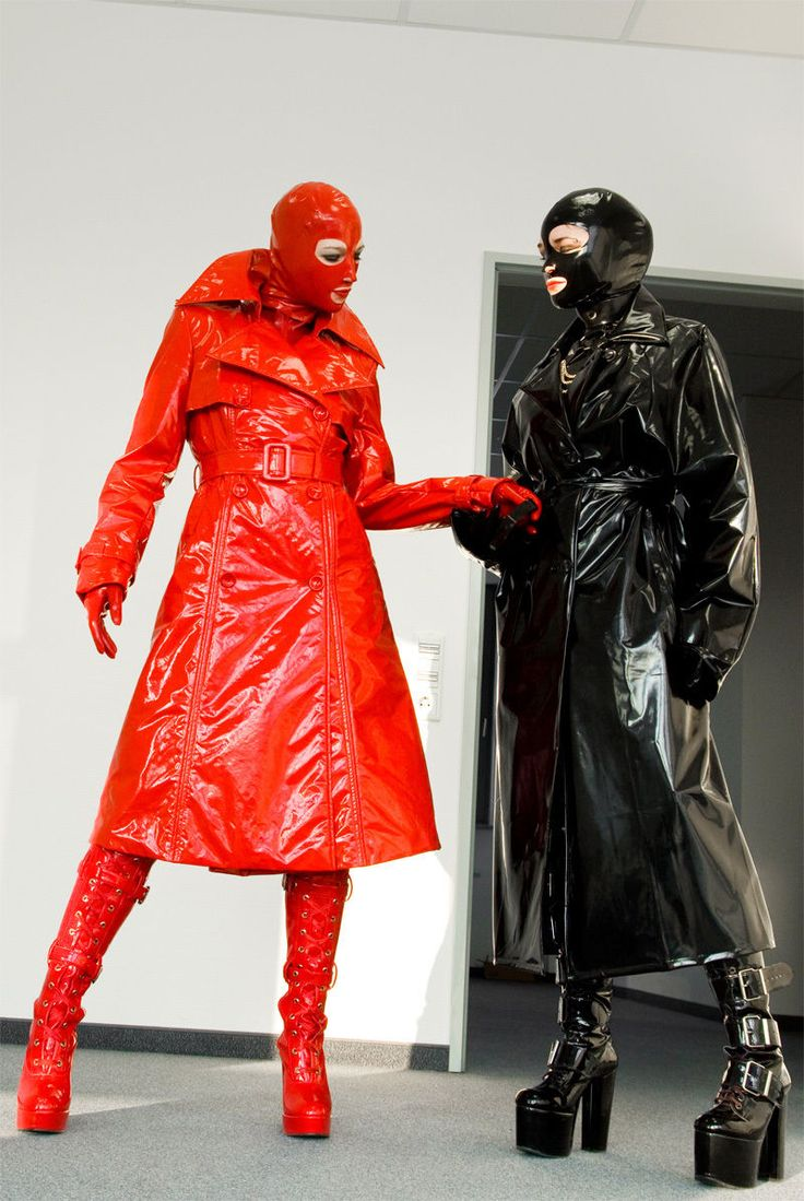 Red And Black Pvc Raincoats Rainwear Pvc Raincoat