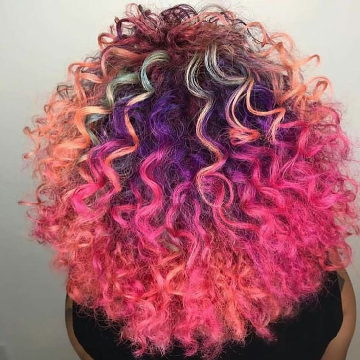 Pinterest : @erianasavagee  Purple Violet Red Cherry Pink Bright Hair Colour Color Coloured Colored Fire Style curls haircut lilac lavender short long mermaid blue green teal orange hippy boho curly  Pulp Riot