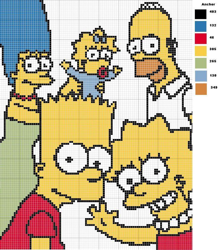 The Simpsons perler bead pattern