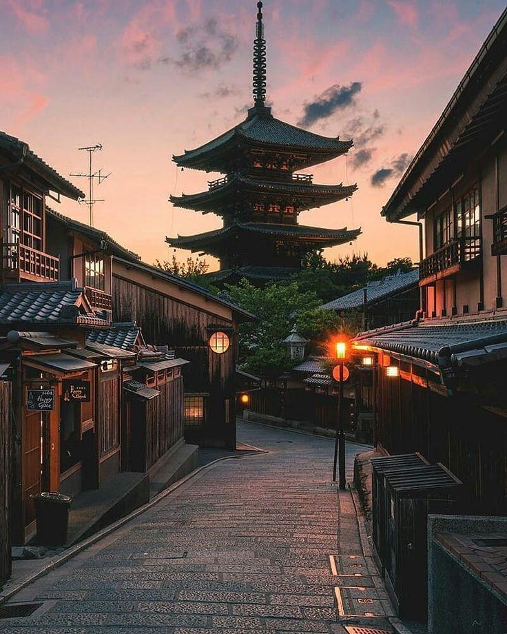 Calles de Kyoto Japón al amanecer – destinos de viaje japoneses – japón travel photog …