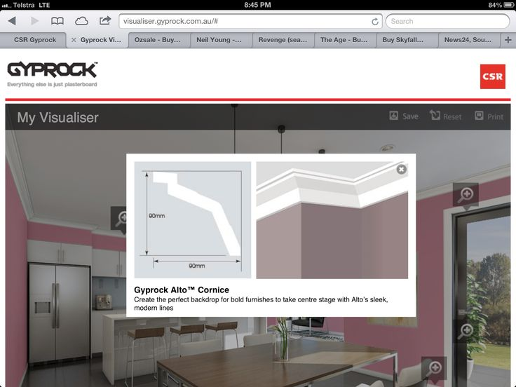 New cornice from Gyprock