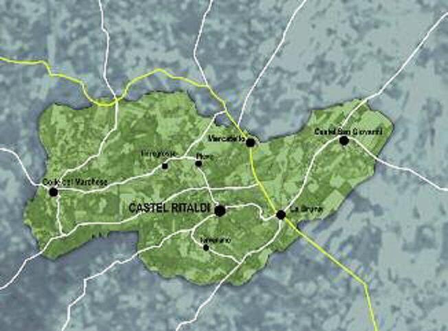 POSIZIONE GEOGRAFICA CASTEL RITALDI