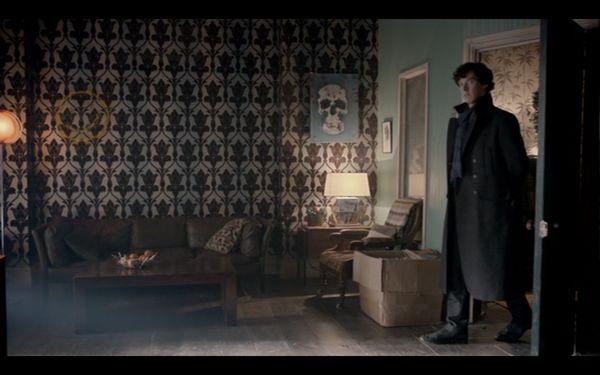 Set design from Sherlock BBC
