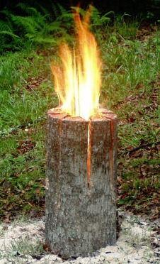 "Nordic ""lumberjacks candle"" with tutorial"