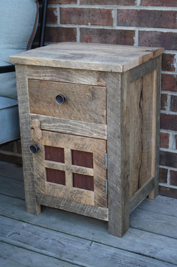 Your Custom Rustic Barn Wood End Table Night By Timelessjourney