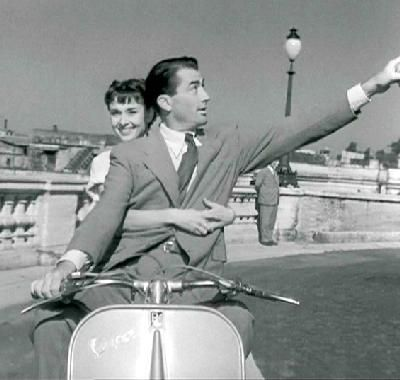 Her first starring role was in Paramount's Roman Holiday 53 shot on location in Italy playing a princess who escapes from her guardians and falls in love with American newsman Gregory Peck. The producers had originally wanted Elizabeth Taylor for the role but after director William Wyler saw Hepburn's screen-test, he was so enchanted by her wistful charm and innocence that he cast her in the lead.