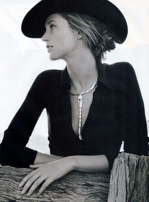 "Vogue Australia April 1997  ""Big Western""  Model: Cecilia Chancellor  Ph: Richard Bailey"